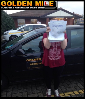 driving lessons blackpool pass test girl